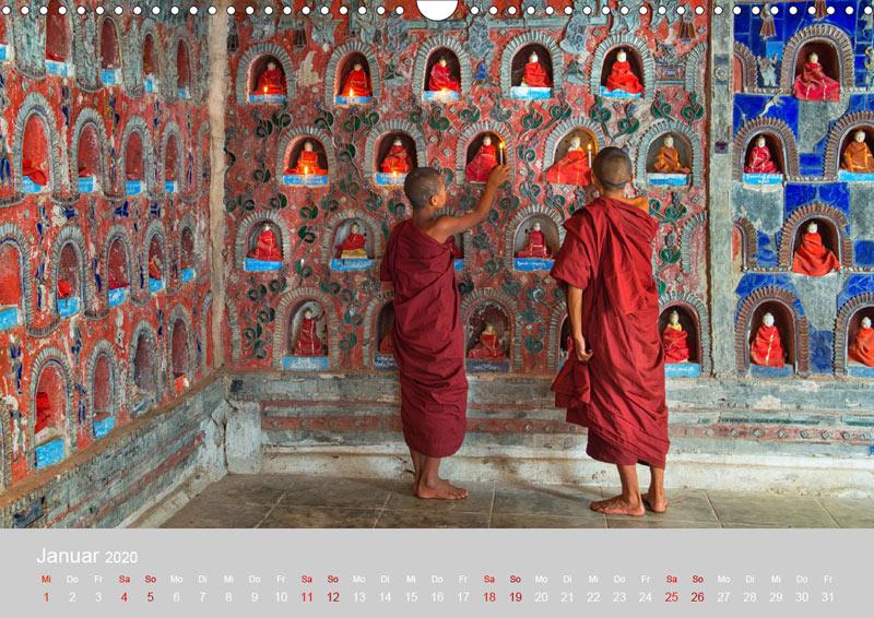 Januar vom Wandkalender für 2020 | MYANMAR | Fotos: Mario Weigt