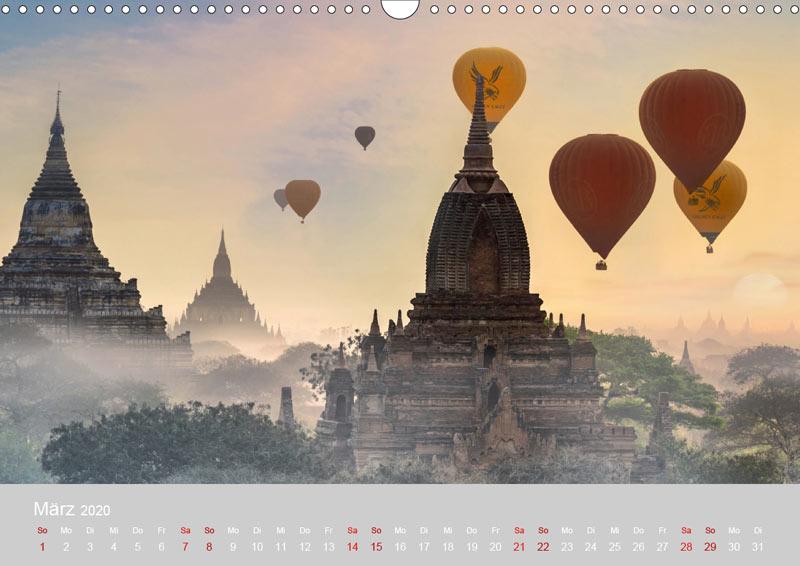 März vom Wandkalender für 2020 | MYANMAR | Fotos: Mario Weigt