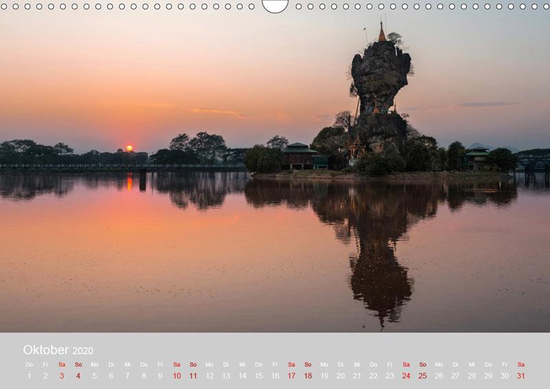 Oktober vom Wandkalender für 2020 | MYANMAR | Fotos: Mario Weigt