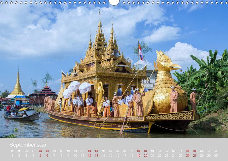 September vom Wandkalender für 2020 | MYANMAR | Fotos: Mario Weigt