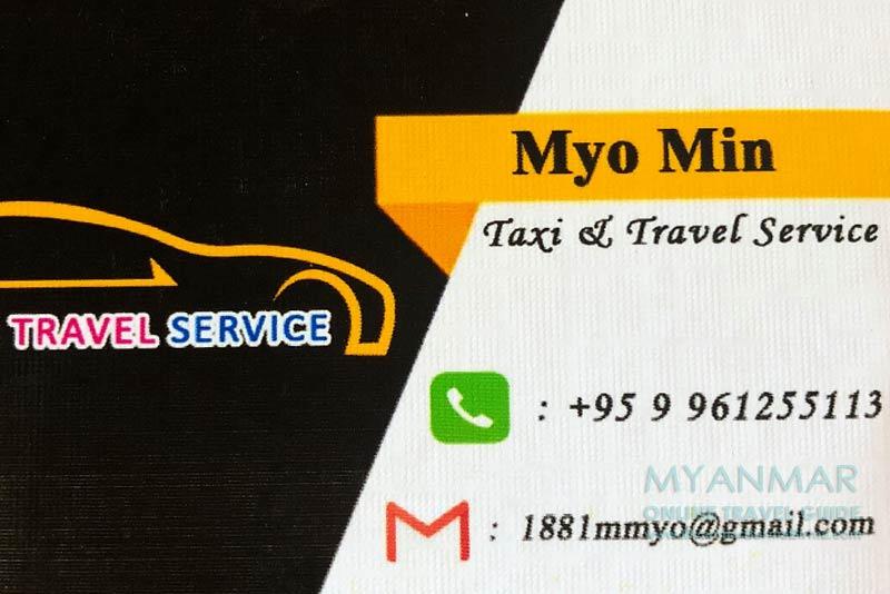 Myanmar Reisetipps   Reiseleiter, Guides, Taxifahrer   Myo Min