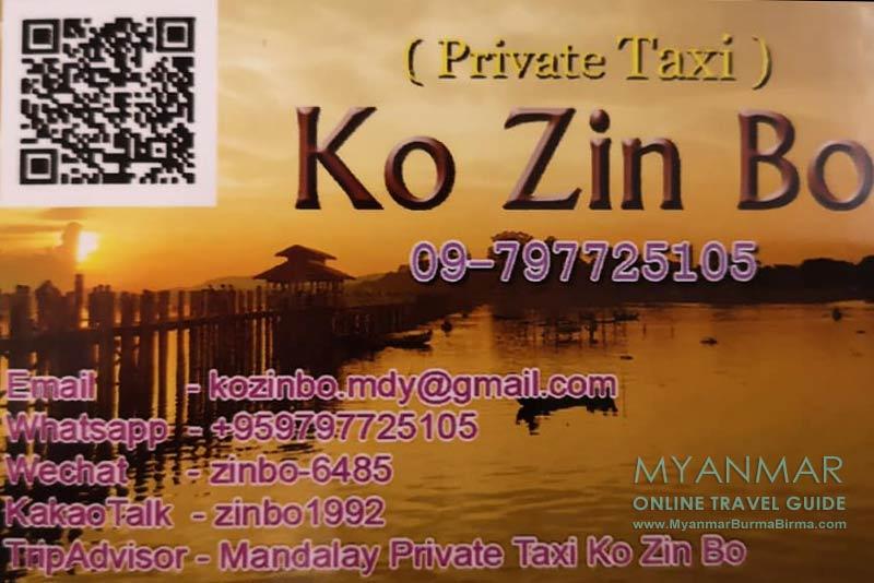 Myanmar Reisetipps | Reiseleiter, Guides, Taxifahrer | Ko Zin Bo