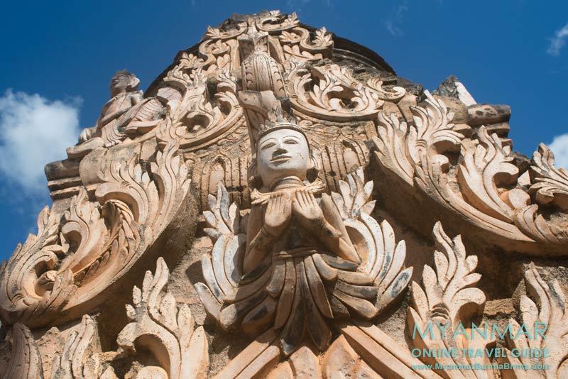Myanmar Reisetipps | Kakku | Detail an einer Pagode