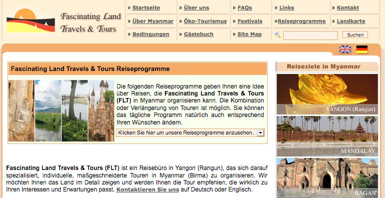 Startseite von Fascinating Land Travels & Tours