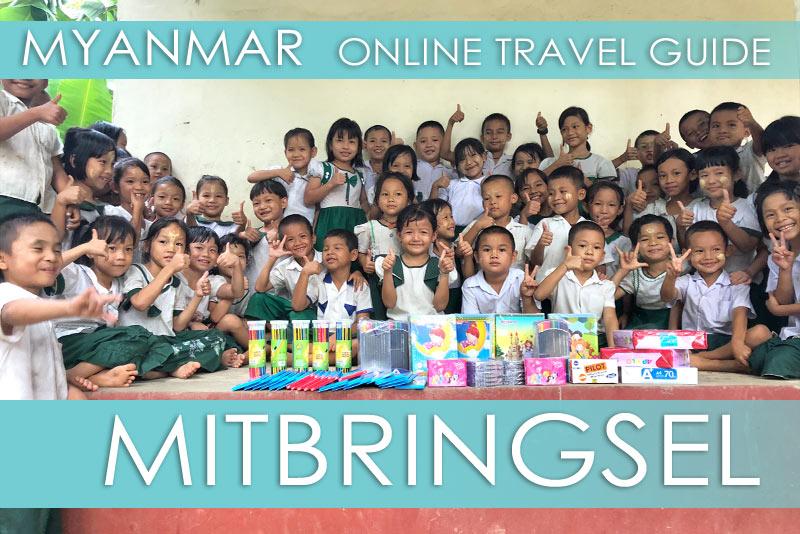 Tipps Myanmar | Gastgeschenke und Mitbringsel