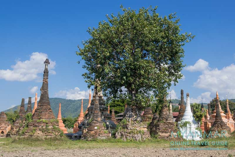 Myanmar Reisetipps | Inle-See | Pagoden in Samkar