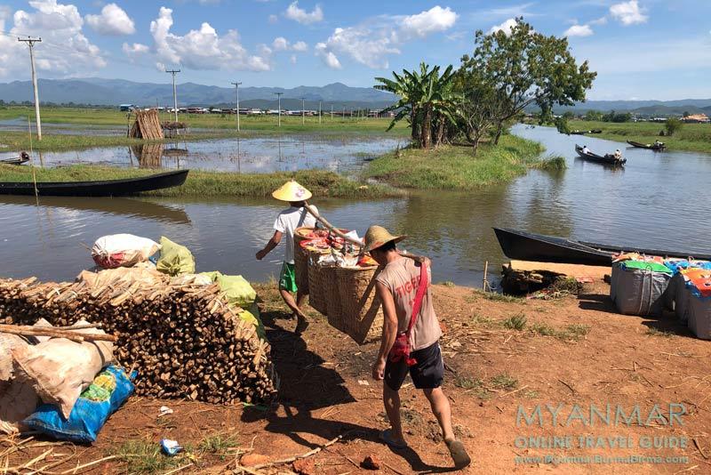 Myanmar Reisetipps | Inle-See | Bootsanleger in Taung Tho