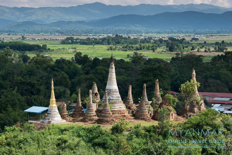 Myanmar Reisetipps | Inle-See | Blick vom Viewpoint (Nr. 7) in Indein