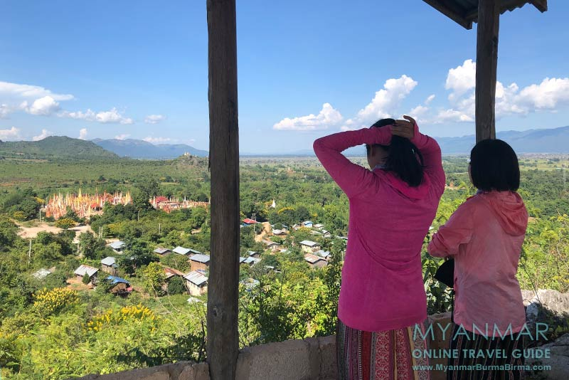 Myanmar Reisetipps | Inle-See | Viewpoint am Gold-Stupa in Indein