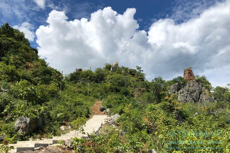 Myanmar Reisetipps | Inle-See | Treppe zum Aussichtspunkt (Nr. 7) in Indein