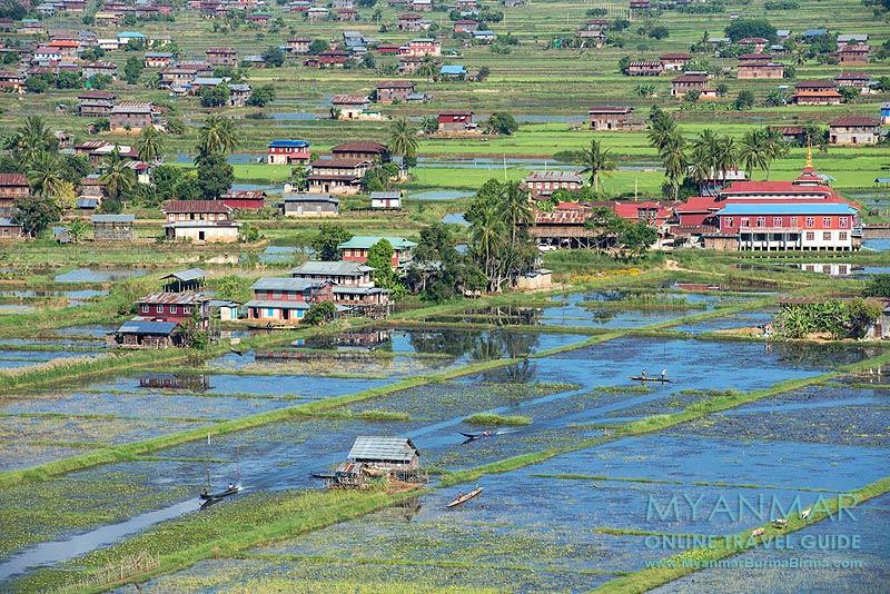 Myanmar Reisetipps | Inle-See | Mitte Oktober: Blick vom Kloster Taung Chay Taw Ya