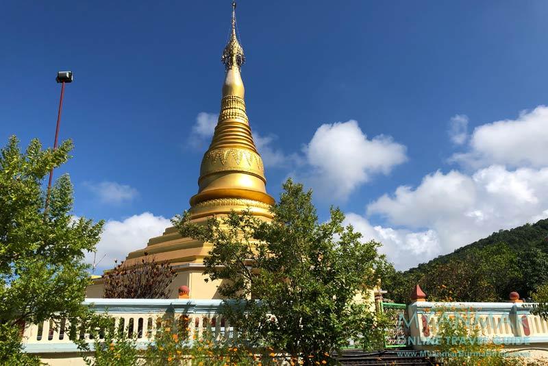 Myanmar Reisetipps | Inle-See | Goldene Pagode am Aussichtspunkt in Maing Thauk