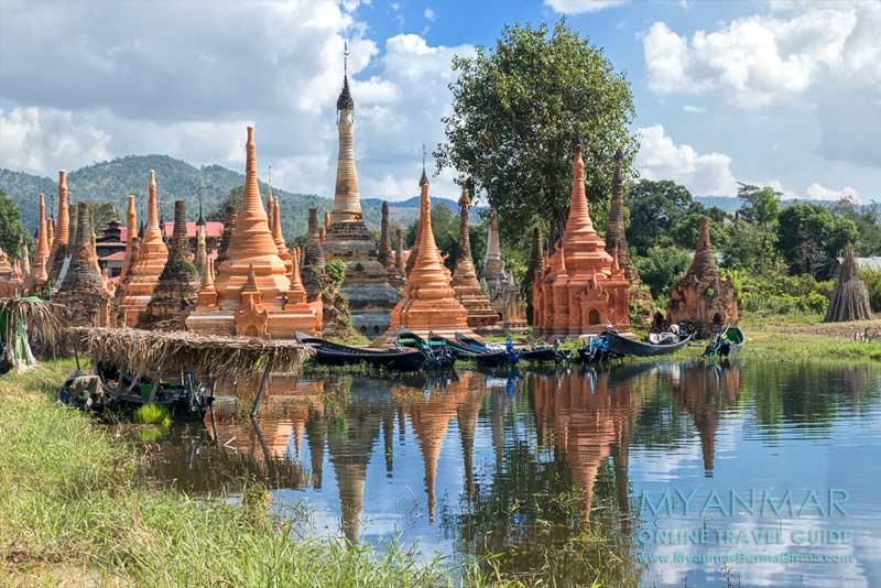 Myanmar Reisetipps | Samkar | Pagodenkomplex und Bootsanleger