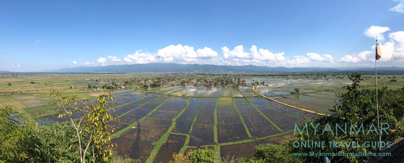Myanmar Reisetipps | Inle-See | Anfang November: Blick vom Kloster Taung Chay Taw Ya