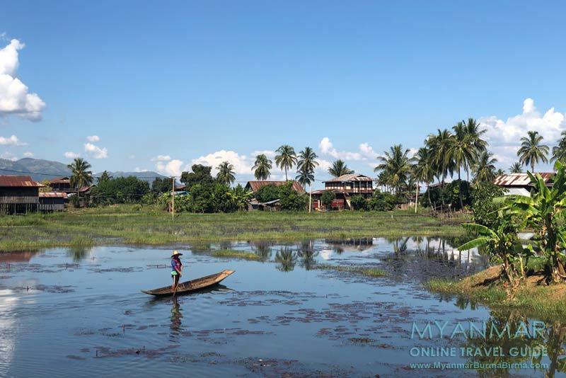 Myanmar Reisetipps | Inle-See | Dorf gegenüber Taung Chay Taw Ya Monastery