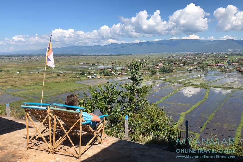 Myanmar Reisetipps | Inle-See | Ende Oktober: Blick vom Kloster Taung Chay Taw Ya