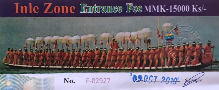 Myanmar Reisetipps | Inle-See | Ticket für die Inle Zone