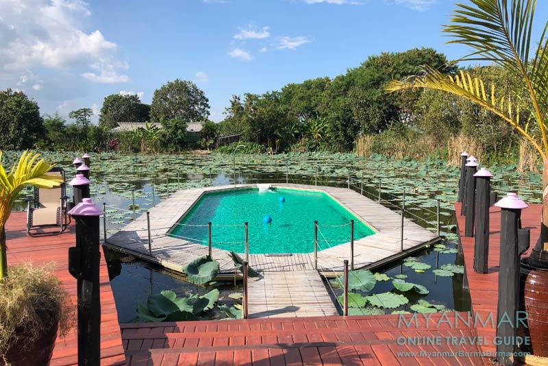 Myanmar Reisetipps | Inle-See und Indein | Schwimmender Pool in der View Point Lodge