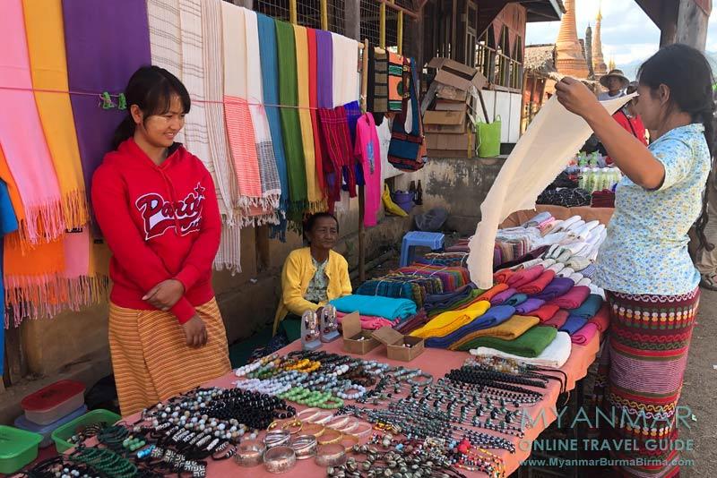 Myanmar Reisetipps | Samkar | Souvenirstand