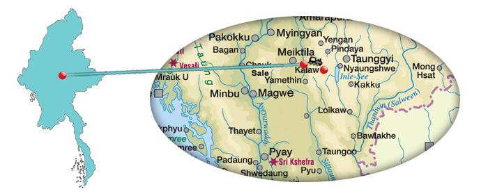 Tipps für eine Bahnfahrt von Thazi nach Kalaw in Myanmar