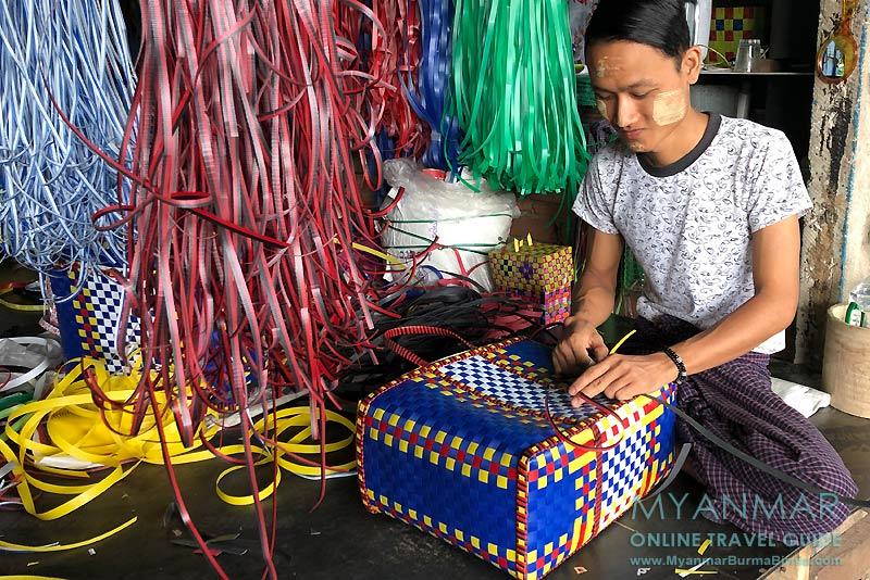 Myanmar Reisetipps | Bago | Taschenherstellung