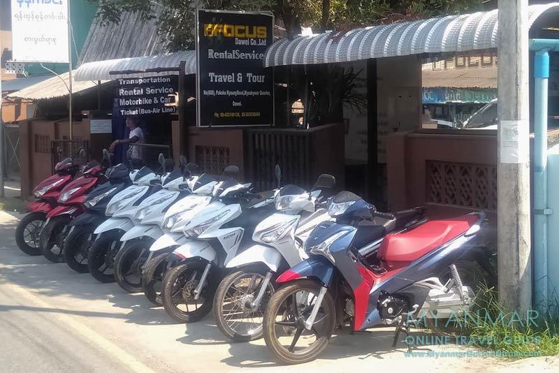 Focus Rental Service in Dawei verleiht gute Motorbikes