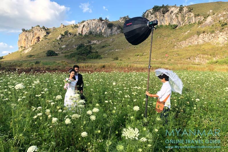 Myanmar Reisetipps | Umgebung von Kalaw | Fotoshooting mit Brautpaar