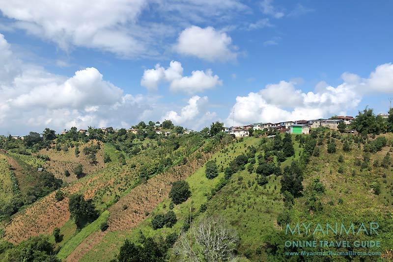 Myanmar Reisetipps | Umgebung von Kalaw | Ausblick auf das Palaung-Dorf Hin Kha Gone