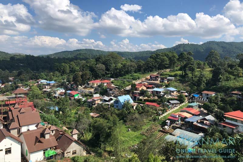 Myanmar Reisetipps | Kalaw | Blick vom Mya Yar Pin Hotel