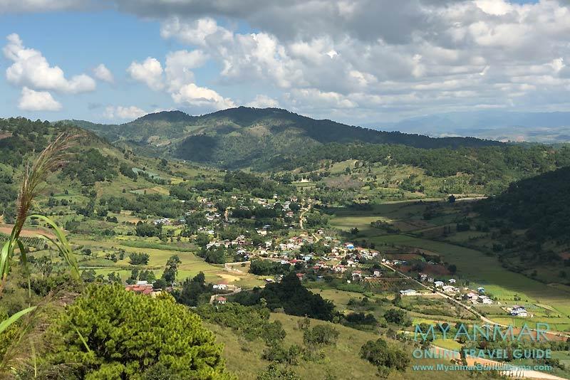 Myanmar Reisetipps | Umgebung von Kalaw | Aussicht vom Osei Mountain