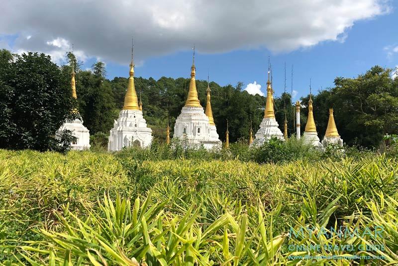 Myanmar Reisetipps | Umgebung von Kalaw | Pagoden am Ingwerfeld