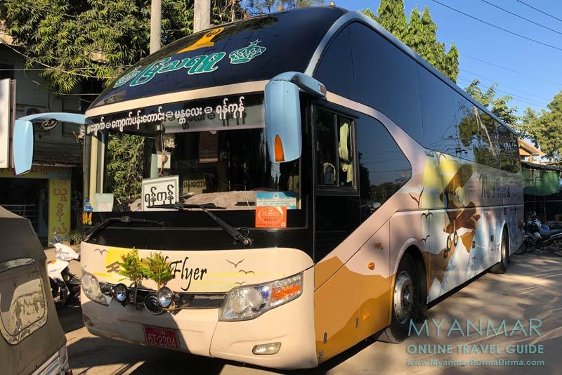 Myanmar Reisetipps | Sale | Bus von Mya Tharaphu Company