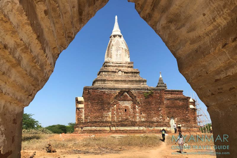 Myanmar Reisetipps | Sale | Bauarbeiten an einer Pagode in Pakhan Nge