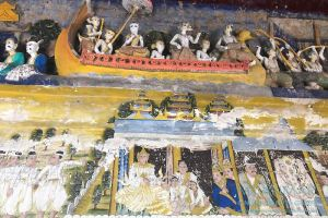 Myanmar Reisetipps | Sale | Wandmalerei und Skulpturen in der Pagode Shin Bin Sar Kyo
