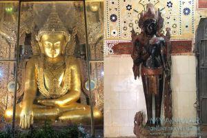 Myanmar Reisetipps | Sale | Buddha- und Lokanat-Figur in der Pagode Shin Bin Sar Kyo