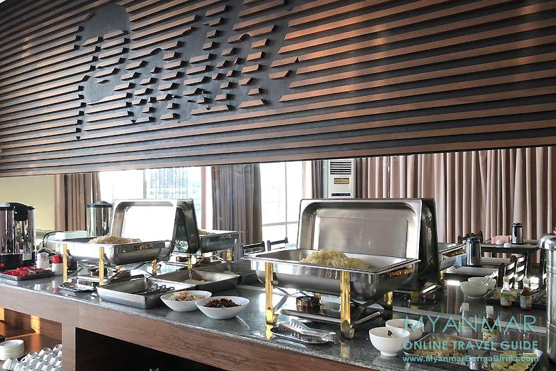 Myanmar Reisetipps | Toungoo | Restaurant und Frühstücksbuffet im Pathi Hotel