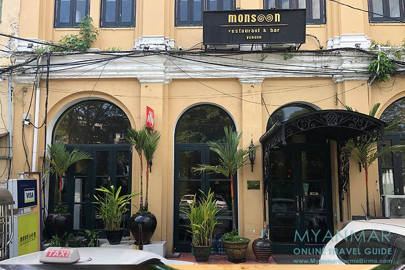 Myanmar Reisetipps | Yangon | Monsoon Restaurant & Bar