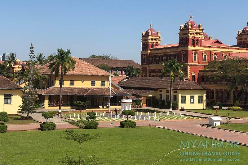 Myanmar Reisetipps | Yangon | The Secretariat: Parlamentsgebäude im Innenhof