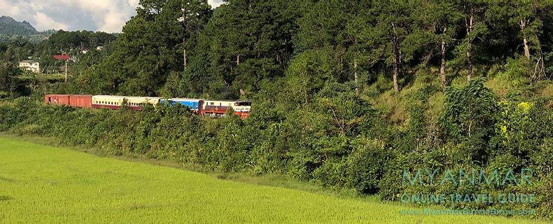 Myanmar Reisetipps | Zugfahrt von Thazi nach Kalaw