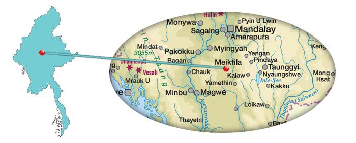 Myanmar Reisetipps | Karte für Meiktila