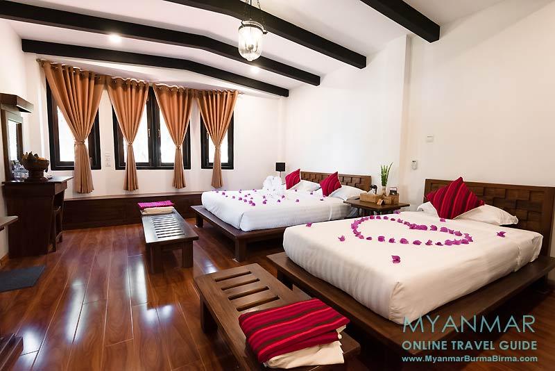 Myanmar Reisetipps | Kakku | Deluxe-Familienzimmer im Hlaing Konn Hotel | Foto: Hlaing Konn Hotel