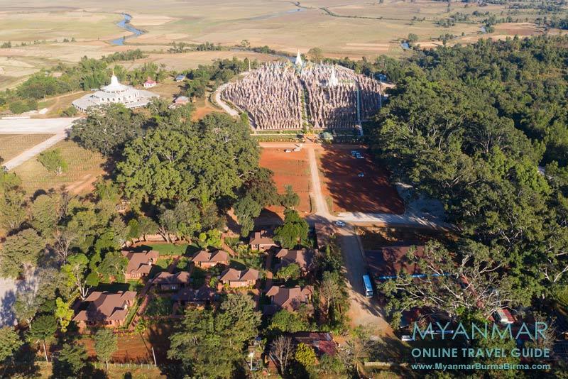 Myanmar Reisetipps | Kakku | Hlaing Konn Hotel und Pagodenfeld | Foto: Hlaing Konn Hotel