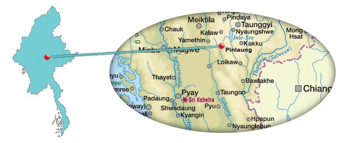 Myanmar Reisetipps | Pinlaung-Karte
