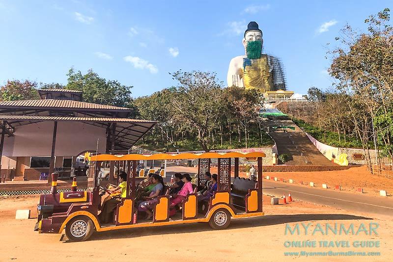 Myanmar Reisetipps | Kyaikhto | 1.000 Kyat kostet eine Fahrt zum Gotama Buddha Phayah Gyi auf dem Phayah Thon Su Hill