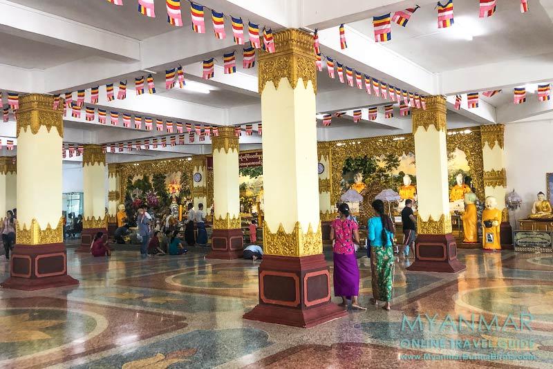Myanmar Reisetipps | Kyaikhto | Halle im Erdgeschoss vom Gotama Buddha Phayah Gyi