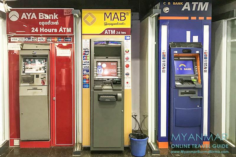 Myanmar Reisetipps | Mawlamyaing (Mawlamyine) | ATMs im Ocean Supercenter