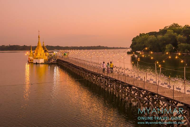 Myanmar Reisetipps | Meiktila | Pagode Antaku Yele auf dem Meiktila-See am Westufer