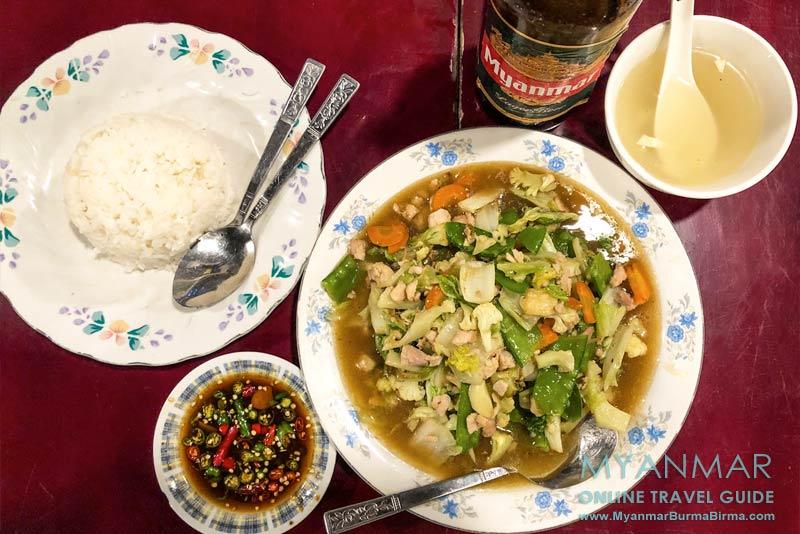 Myanmar Reisetipps | Meiktila | Essen im Honey & Golden Eagle