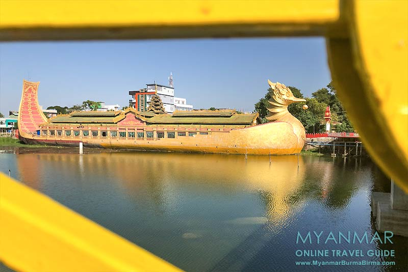 Myanmar Reisetipps | Meiktila | Pagode Paung Daw U am Ostufer des Meiktila-Sees