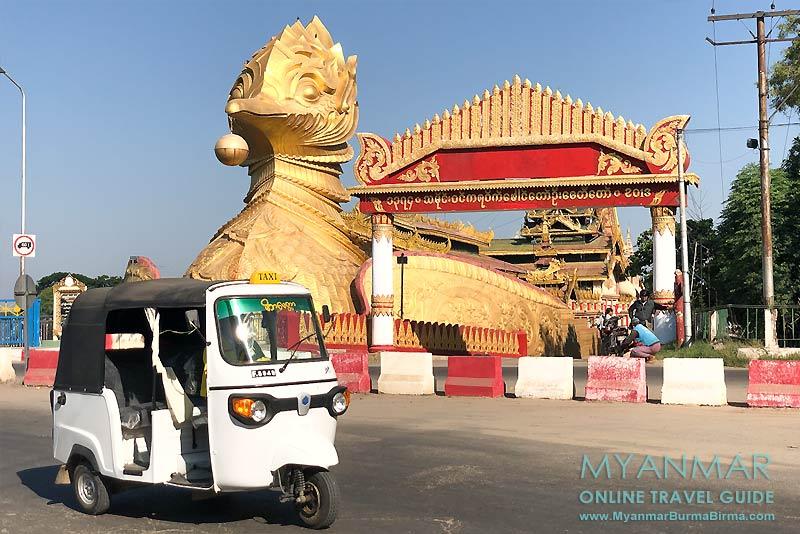 Myanmar Reisetipps | Meiktila | Pagode Paung Daw U, das Wahrzeichen der Stadt, am Ostufer